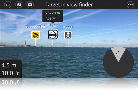 Dragonfly App - Target in View Finder | Raymarine by FLIR