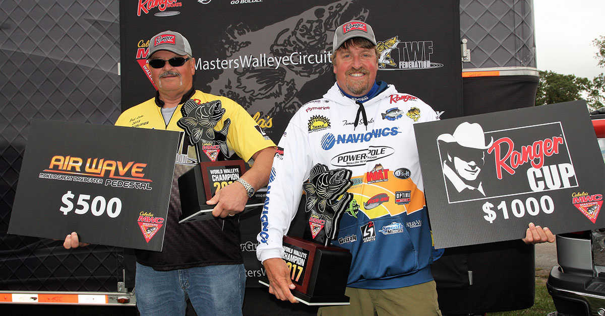 Skarlis & Lahr Win 2017 Cabela's MWC World Walleye Championship on Minnesota's Cass Lake