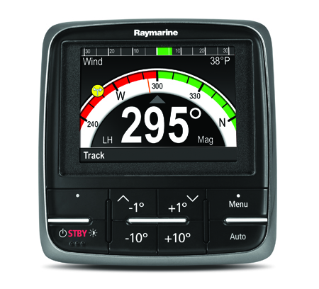 P70 Autopilot Control Head White on Black Screen | Raymarine