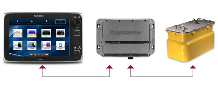 CP450C with MFD and transducer | Raymarine