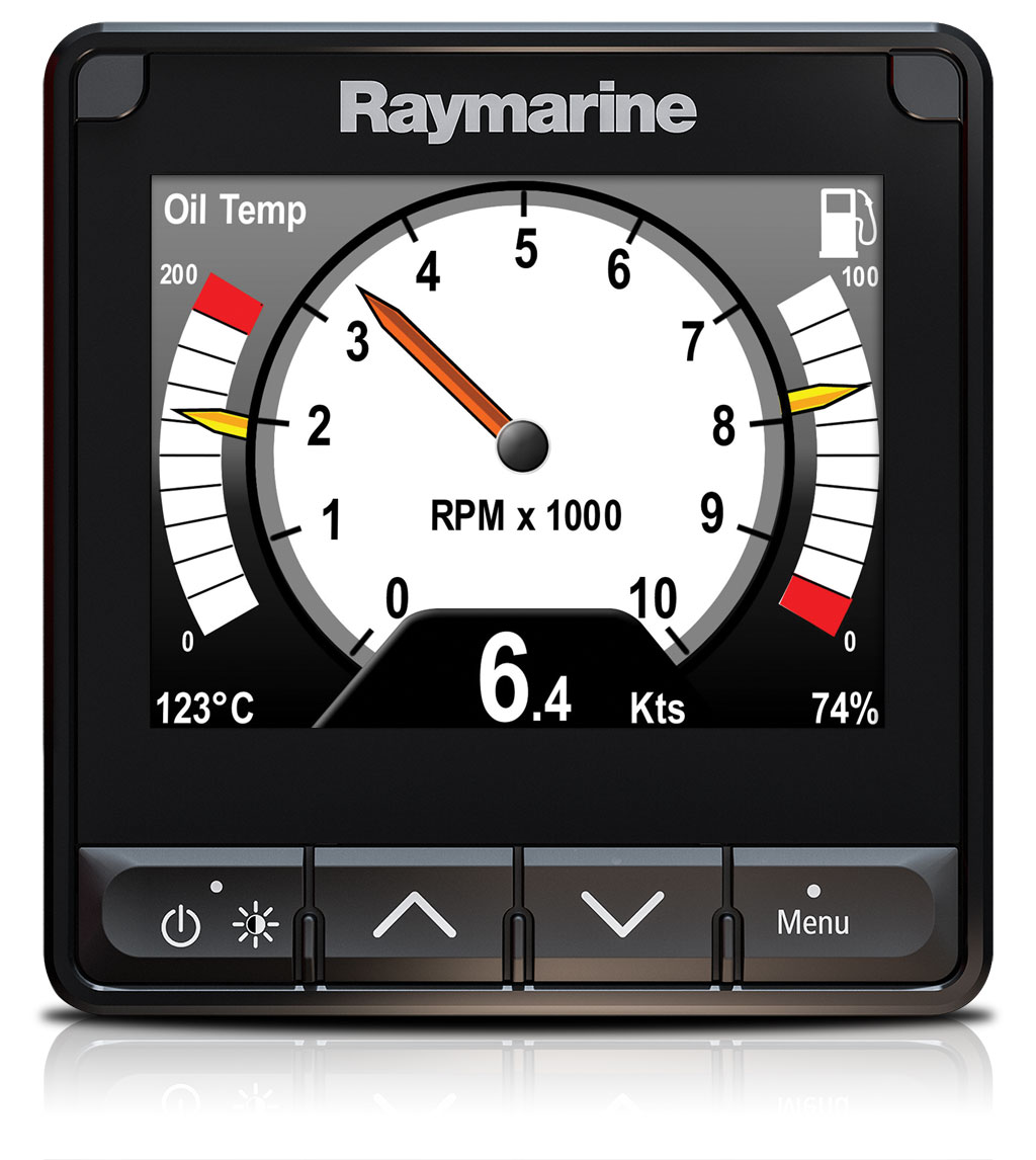 i70s Customized Screens - Engine Data | Raymarine by FLIR