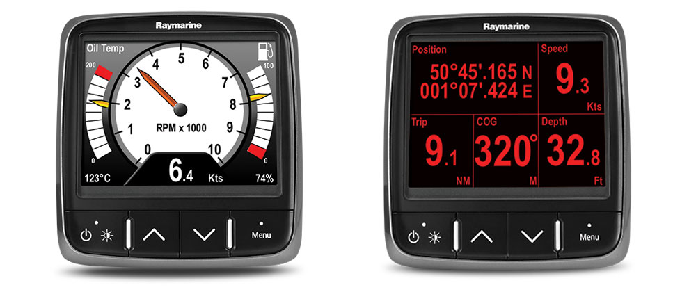 Analogue and Digital Displays | Raymarine