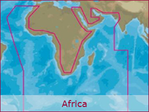 C-MAP Cartography - Africa Bundle | Raymarine