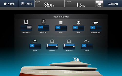 Digital Switching Graphical Interface | Raymarine