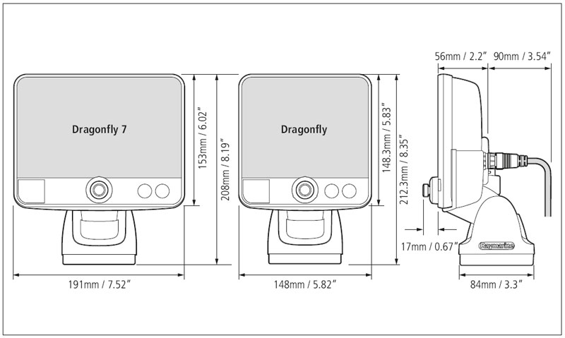Dragonfly Dimensions(1)?n=6189 dragonfly 6 and 7 related products raymarine dragonfly wiring diagram at sewacar.co