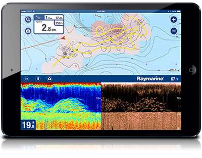 Wifish black box wi fi chirp downvision sonar module for Navionics fishing app