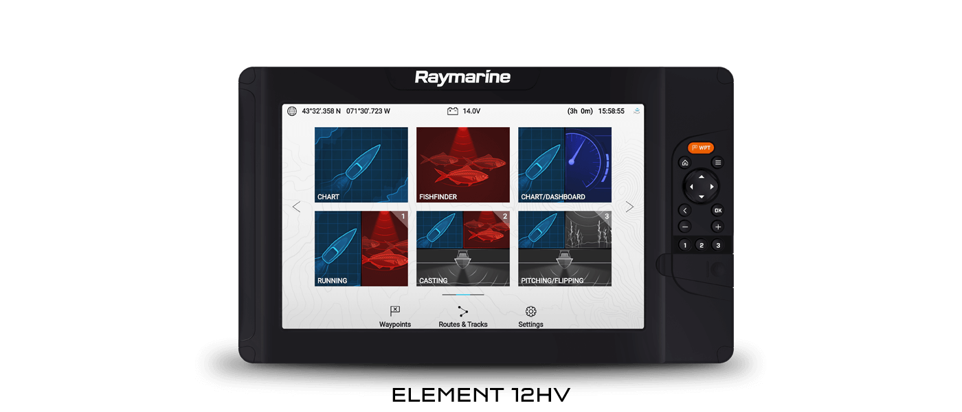 NEW Element Sonar GPS Multifunction Display | Raymarine - A Brand by