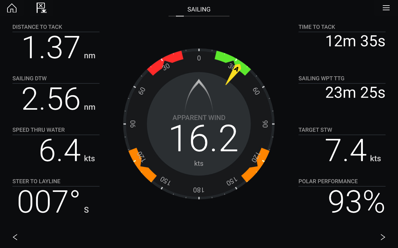 LightHouse 3.9 Software Update - Dashboard App and Sailing Dials | Raymarine - A Brand by FLIR