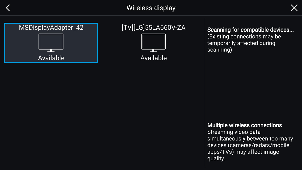LightHouse 3.2 - Wireless Display (MiraCast) | Raymarine by FLIR