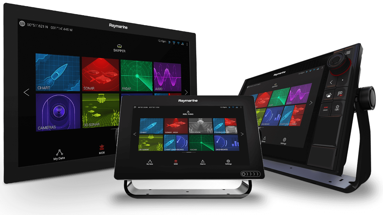 Axiom and Axiom Pro Multifunction Displays | Raymarine - A Brand by FLIR