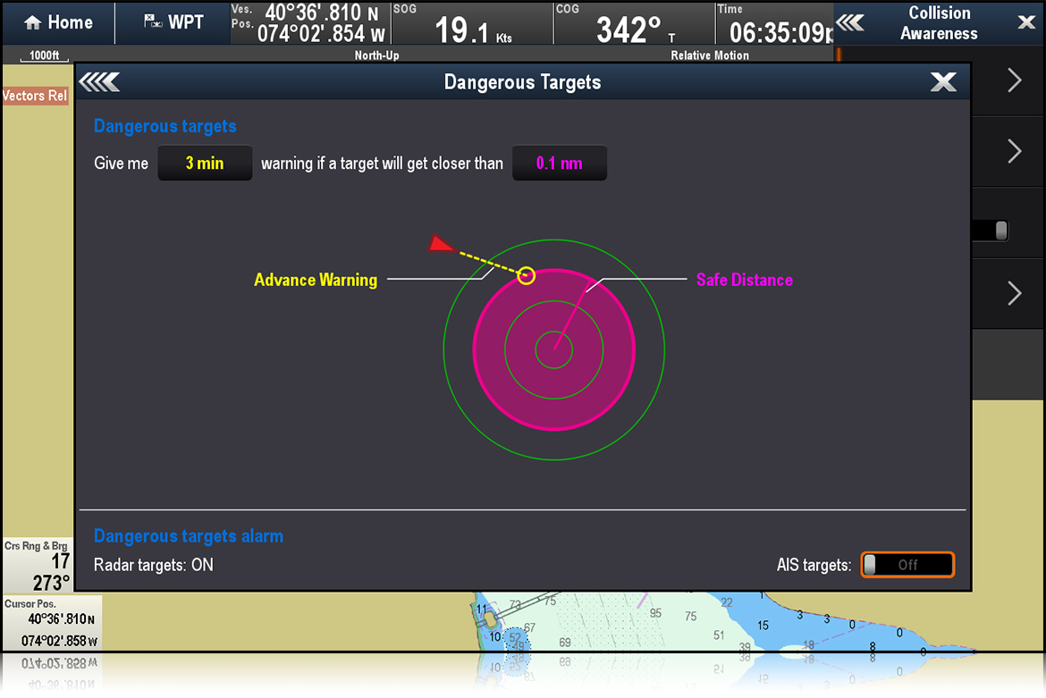 Dangerous Targets - LightHouse II R15 | Raymarine