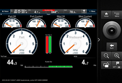 RayControl data screen with remote | Raymarine