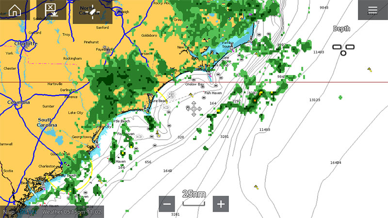 Sirius - NEXRad Doppler Weather Radar | Raymarine - A Brand by FLIR