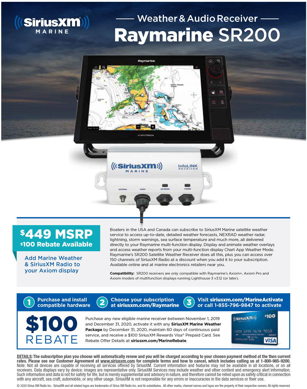 Sirius XM Rebate Offer | Raymarine - A Brand by FLIR