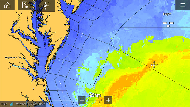 Sirius - Satellite Sea Surface Temperature | Raymarine - A Brand by FLIR