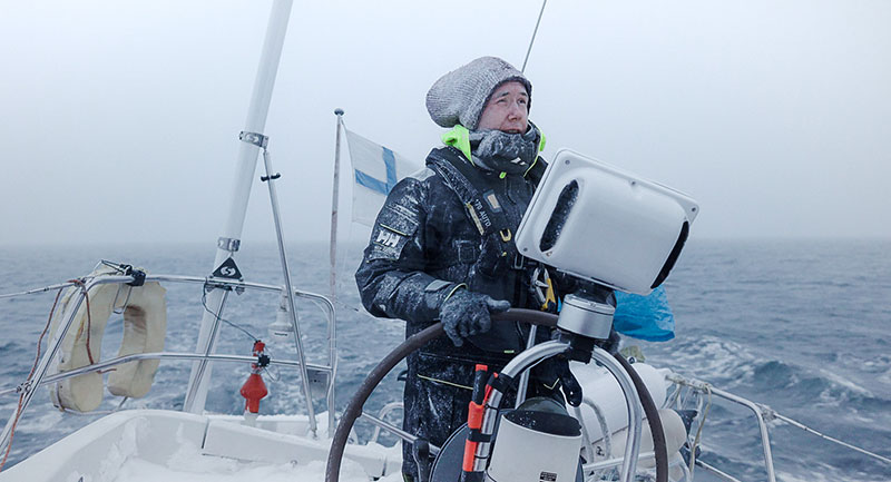 Raymarine Ambassador Juho Karhu on his way to Svalbard!