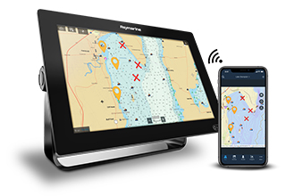 FLIR Introduces Fishidy Sync Mobile Integration for Raymarine Axiom Multifunction Displays