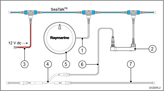 ECI100-2 Raymarine Seatalk Wiring Diagram on gps antenna, b256 transducer, c120 cable for radar, fluxgate compass, seatalk hs, patch cable,