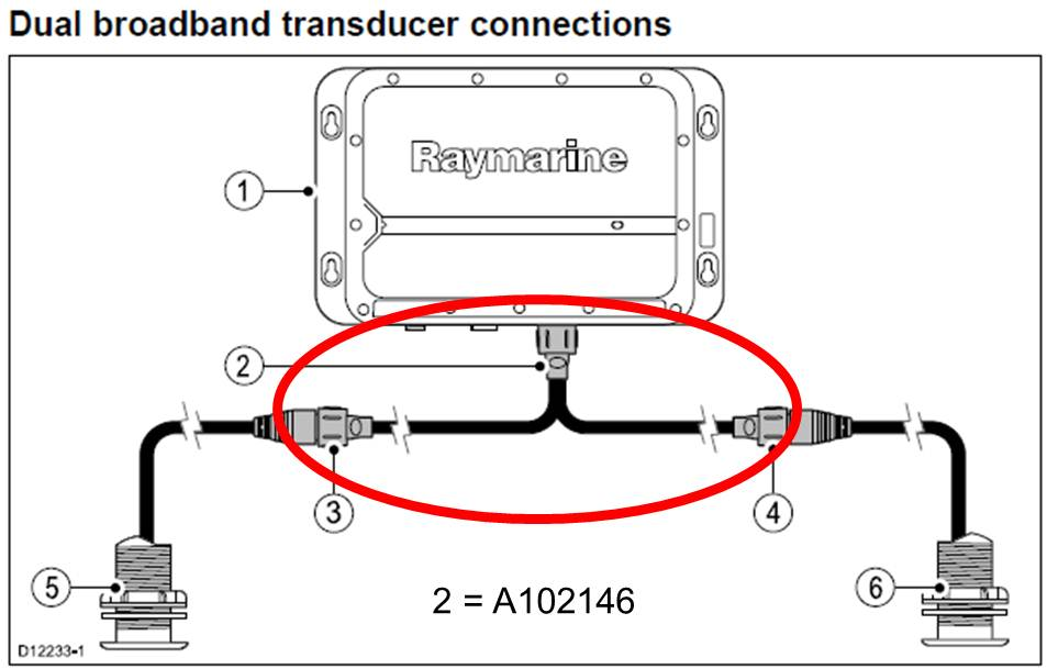 CP470 / CP570 CHIRP Transducer Adapter Cable | Marine Electronics by Raymarine
