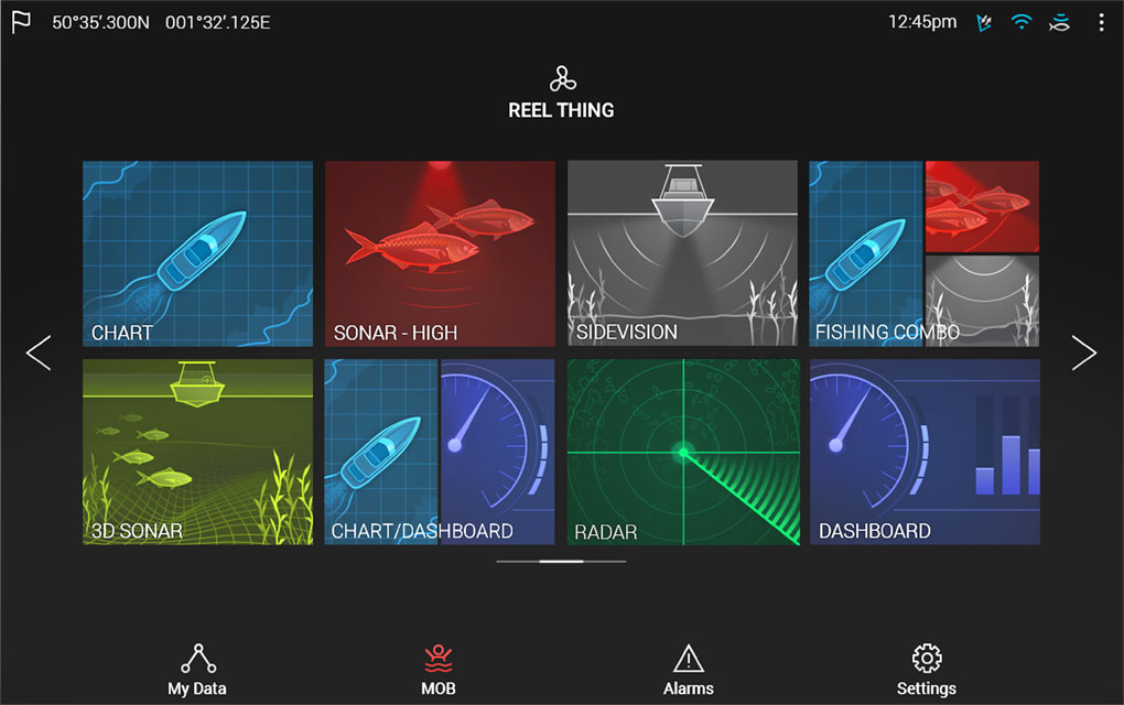 LightHouse 3 Home Screen | Marine Electronics by Raymarine