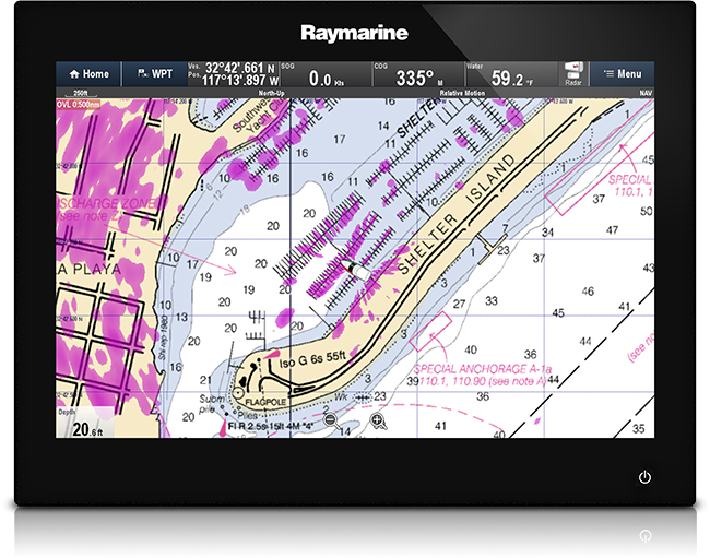 gsSeries Cartography Options | Raymarine