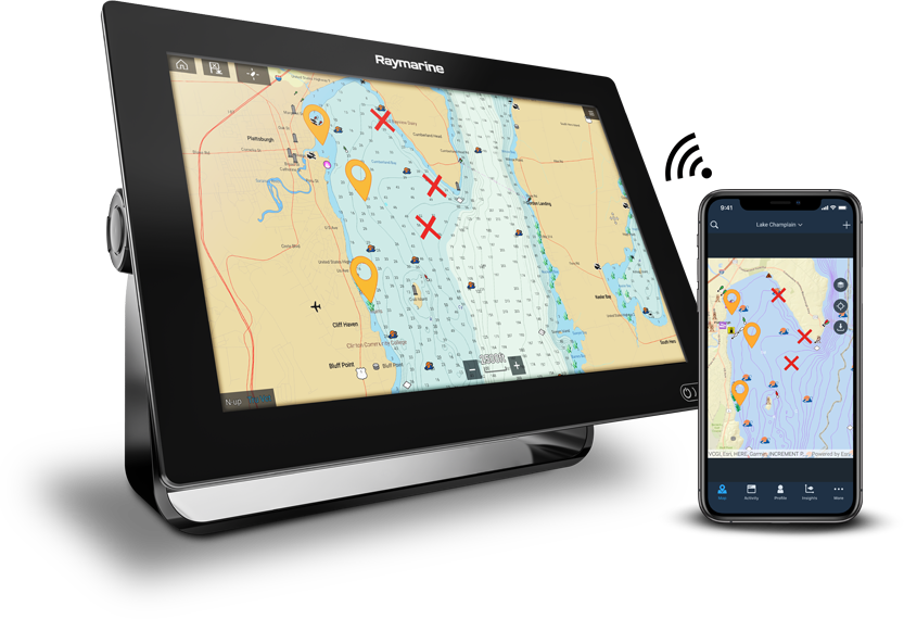 New - Fishidy Sync Mobile App to MFD Integration | Raymarine - A Brand by FLIR