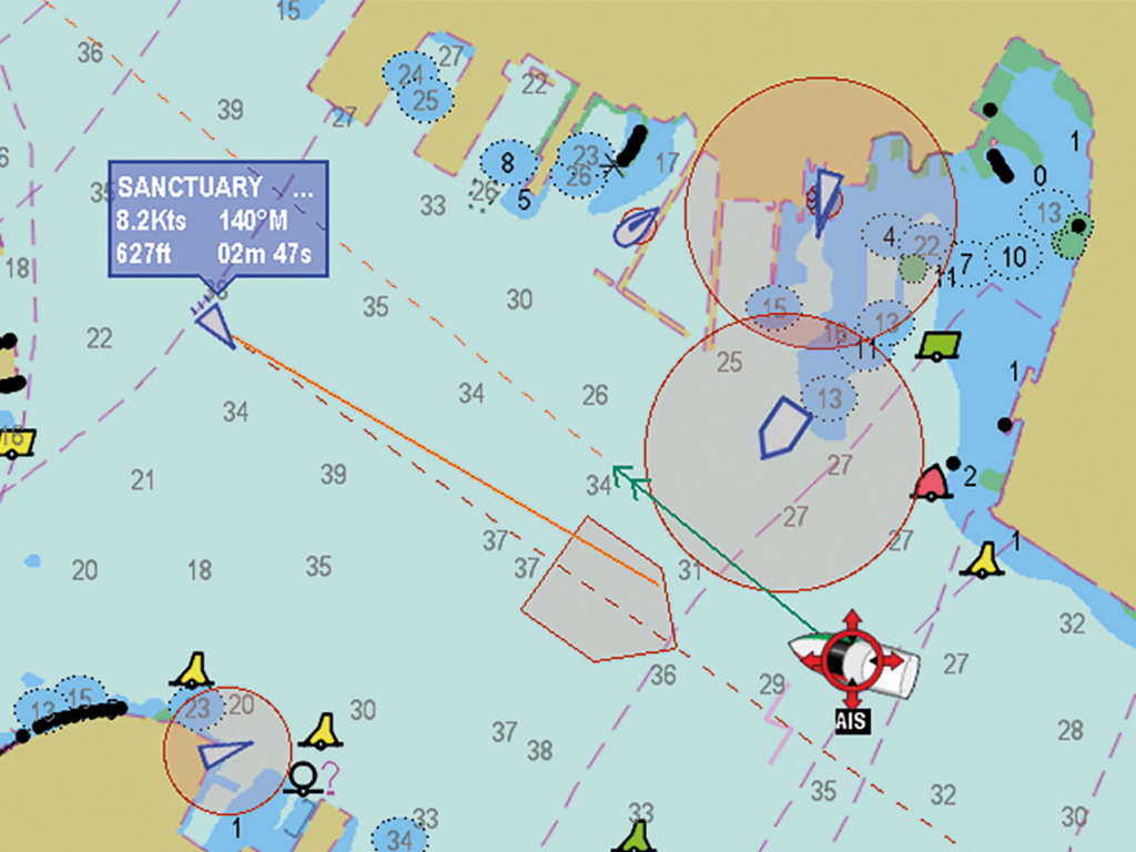 LightHouse II AIS Target Intercept Graphic Overlays | Raymarine - A Brand by FLIR